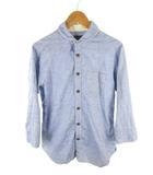 シップスジェットブルー SHIPS JET BLUE シャツ 七分袖 コットン リネン 麻 青 ブルー S トップス