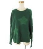 ツモリチサト TSUMORI CHISATO 長袖 ニット セーター ゆったり 星柄 スター ラメ ウール 緑 グリーン 2 トップス