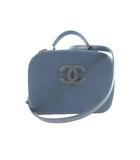 シャネル CHANEL ショルダーバッグ 斜めがけ ハンドバッグ 2WAY バニティ マトラッセ ラージ ネイビー 紺 ヴィンテージゴールド カーフレザー 23番台 鞄 美品
