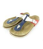 ベチュラ Betula サンダル コンフォート トング RAP ラップ レザー 革 白 ホワイト 紺 ネイビー 赤 レッド 26.5cm 41 靴