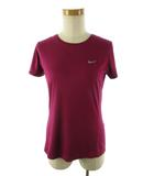ナイキ NIKE 半袖 カットソー Tシャツ RUNNING ランニング DRY-FIT ドライフィト ウエア パープル 紫 M トップス 美品