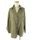 ティティベイト titivate 長袖 オーバーシャツ ブラウス ゆったり カーキ系 緑 M トップス 美品