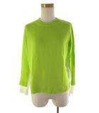 ポールスミス PAUL SMITH 長袖 ニット セーター ライトグリーン 黄緑 オフホワイト 白 ウール M トップス 極美品