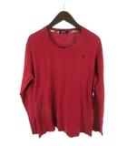 バーバリーブラックレーベル BURBERRY BLACK LABEL ロンTシャツ 長袖 赤 レッド コットン 3 国内正規品 三陽商会 トップス