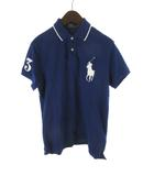 ポロ ラルフローレン POLO RALPH LAUREN ポロシャツ 半袖 ビッグポニー 3 紺 ネイビー 白 ホワイト コットン M 国内正規品