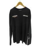 アンブッシュ AMBUSH Amazon アマゾン ロンTシャツ 長袖 ロゴ 黒 ブラック 白 ホワイト コットン 3 トップス 美品 限定