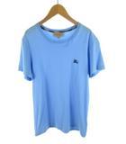 バーバリー BURBERRY London England ロンドン イングランド Tシャツ 半袖 ホース 刺繍 水色 ライトブルー コットン S バーバリー・ジャパン(株)