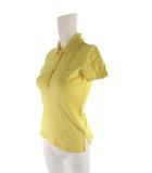 トミーヒルフィガー TOMMY HILFIGER ポロシャツ 半袖 ワンポイント 黄色 イエロー コットン XS トップス 国内正規品