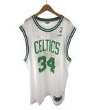 リーボック Reebok バスケシャツ ユニフォーム ゲームシャツ CELTICS 34 PIERCE NBA 白 ホワイト 緑 グリーン L