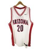ナイキ NIKE バスケシャツ ユニフォーム ゲームシャツ ARIZONA 20 アリゾナ 白 ホワイト 赤 レッド 紺 ネイビー 大きめ XXL