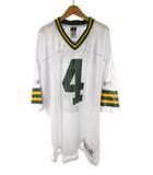 リーボック Reebok Classic クラシック ユニフォーム ゲームシャツ NFL アメフト FAVRE 4 白 ホワイト 緑 グリーン  2XL 大きめ
