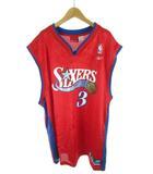 リーボック Reebok SIXERS フィラデルフィアセブンティシクサーズ iverson 3 アイバーソン ユニフォーム  ゲームシャツ バスケ NBA 赤 レッド XL