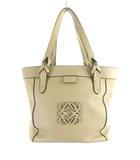 ロエベ LOEWE ハンドバッグ ショルダーバッグ 肩掛け アナグラム ロゴ レザー アイボリー 鞄