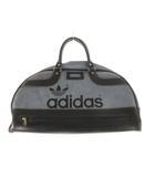 アディダス adidas ボストンバッグ トレフォイルロゴ レザー ブルー ネイビー 青 紺 48cm×30cm 旅行鞄 トラベル ビンテージ オールド