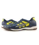 アンブロ UMBRO シューズ フットサル レザー 紺 ネイビー 黄色 イエロー US10.5 28cm 靴