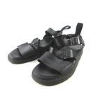 ドクターマーチン DR.MARTENS サンダル GRYPHON グリフォン ストラップ レザー 黒 ブラック UK7 約26cm 靴