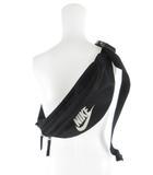 ナイキ NIKE ボディバッグ ウェストバック ショルダーバッグ 斜め掛け ロゴ スウォッシュ 黒 ブラック 鞄