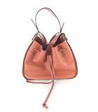 ロエベ LOEWE ショルダーバッグ ハンドバッグ 斜め掛け Hammock ハンモック ドローストリング ミディアム カーフレザー ピンクチューリップ シルバー 鞄