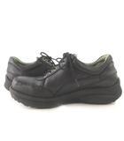 stretchwalker ストレッチウォーカー ウォーキングシューズ 厚底 黒 ブラック レザー 41 約26cm 靴
