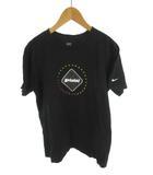 エフシーレアルブリストル F.C.Real Bristol FCRB NIKE ナイキ  Tシャツ 半袖 エンブレム ロゴ 黒 ブラック マルチカラー コットン M