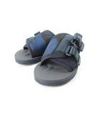 スイコック suicoke ソフ SOPH コラボ サンダル 迷彩柄 カモフラ 青 ブルー 紺 ネイビー 黒 ブラック US7 25cm 19SS 靴