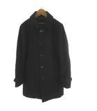 ビームスライツ BEAMS Lights ステンカラーコート 中綿 黒 ブラック ウール S アウター