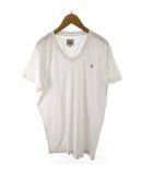 ディーゼル DIESEL Tシャツ 半袖 Vネック ロゴ 白 ホワイト コットン L トップス