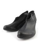 リゲッタ Re:getA ブーティ パンプス ウェッジソール フェイクレザー 黒 ブラック S 約22cm 革靴