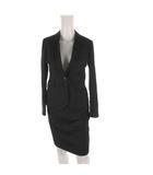 オリヒカ ORIHICA スーツ セットアップ 上下 テーラードジャケット 背抜き スカート ロング WASHABLE ウォッシャブル 洗える 黒 ブラック 7号 ビジネス