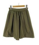 ノーリーズ Nolley's ロングスカート フレアー カーキ グリーン系 コットン 36 ボトムス
