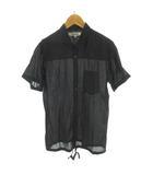 ファクトタム FACTOTUM シャツ 半袖 袖調節可能 黒 ブラック コットン 46 トップス 美品