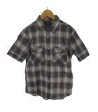 ラウンジリザード LOUNGE LIZARD シャツ 半袖 チェック柄 グレー ブラウン コットン 3 トップス
