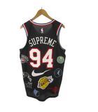 シュプリーム SUPREME NIKE ナイキ 18SS タンクトップ バスケシャツ メッシュ NBA Teams Authentic Jersey Black ブラック 黒 AQ4227-010 レイカーズ 44/M トップス