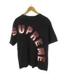 シュプリーム SUPREME Tシャツ 半袖 18SS Gradient Arc Top グラディエントアーチロゴ 黒 ブラック 赤 レッド コットン M トップス