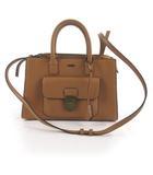 スナイデル snidel ショルダーバッグ 斜めがけ ハンドバッグ 2WAY 茶 ブラウン フェイクレザー 鞄