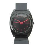 ニクソン NIXON 腕時計 ウォッチ クォーツ TIME TELLER タイムテラー エナメル 黒 ブラック ピンク 小物