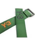ワイスリー Y-3 adidas アディダス ヨウジヤマモト ベルト ロゴ 刺繍 バックル グリーン 緑 ブラック 黒 オレンジ M/125CM 小物