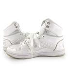 バンズ VANS スニーカー ハイカット スウィッシュ V4400LUX 白 ホワイト エナメル 24.5cm US6H 靴