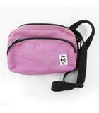 チャムス CHUMS ショルダーバッグ 斜めがけ ポシェット キャンバス コットン 紫 パープル 鞄