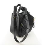 ショルダーバッグ ハンドバッグ 斜め掛け 肩掛け ハンモック スモール アナグラム ジャガード カーフ 黒 ブラック 鞄 21SS 新作