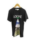 ロエベ LOEWE となりのトトロ ジブリ Tシャツ 半袖 ロゴ プリント XS 黒 ブラック トップス 2021SS 完売 希少 ロエベジャパン