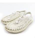 キーン KEEN UNEEK ユニーク サンダル スウェード 白 ホワイト US7.5 25.5cm 靴 1014098