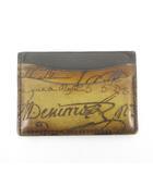 ベルルッティ Berluti カードケース 名刺入れ カリグラフィー レザー 茶 ブラウン 小物 付属品あり