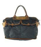 フェリージ Felisi ブリーフケース ビジネスバッグ 1999 ナイロン レザー 紺 ネイビー 茶 ブラウン 鞄