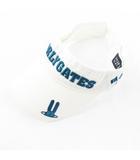 パーリーゲイツ PEARLY GATES サンバイザー キャップ 帽子 ロゴ 刺繍 白 ホワイト 青 ブルー ゴルフ ウエア
