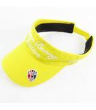 マスターバニー MASTER BUNNY サンバイザー キャップ 帽子 ロゴ 刺繍 黄色 イエロー ゴルフ ウエア