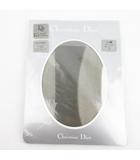 クリスチャンディオール Christian Dior CD 刺繍モチーフ パンティストッキング パンスト TK-03  グリ M 150-160cm