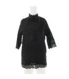 スライ SLY 長袖 チュニック シャツ 刺繍 レース 030CSY30-4850 黒 ブラック コットン 1 トップス