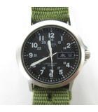 カシオ CASIO ALBA アルバ クオーツ ミリタリーウォッチ 腕時計  MD-706 デイデイト 黒 ブラック 緑 グリーン