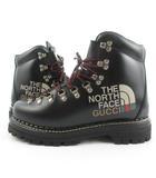 グッチ GUCCI THE NORTH FACE ノースフェイス ANKLE BOOTS アンクルブーツ マウンテンブーツ 655401 黒 ブラック 6 1/2  約25.5cm 靴
